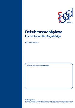 Ratgeber Dekubitusprophylaxe (ambulant)
