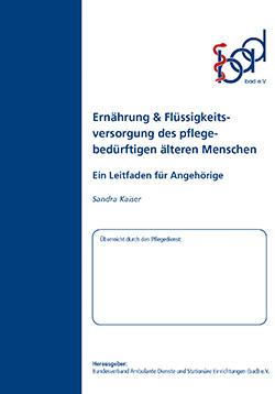 Ratgeber Ernährung und Flüssigkeitsversorgung (ambulant)