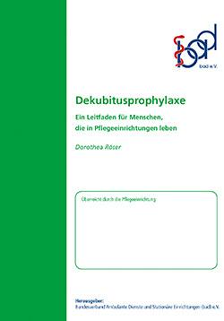 Ratgeber Dekubitusprophylaxe (stationär)