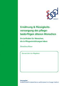 Ratgeber Ernährung und Flüssigkeitsversorgung (stationär)